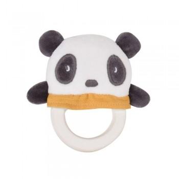 TIKIRI Mordedor caucho - Panda (13 cm.)